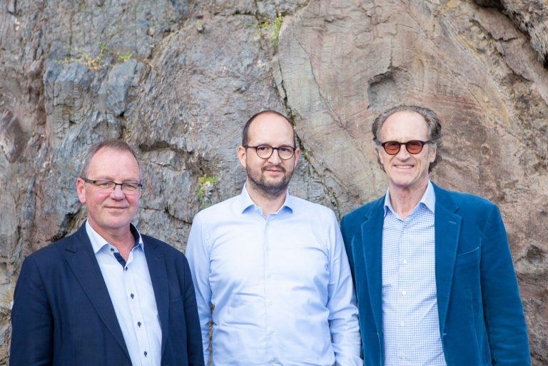 v.l.n.r. Bürgermeister Saarburg Jürgen Dixius, Geschäftsführer Stephan Ruppert, Architekt Matteo Thun